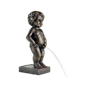Bronze Brussels Boy Solar Powered Pond Spitter