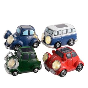 Set of 4 Retro Vintage Style Solar Powered Cars