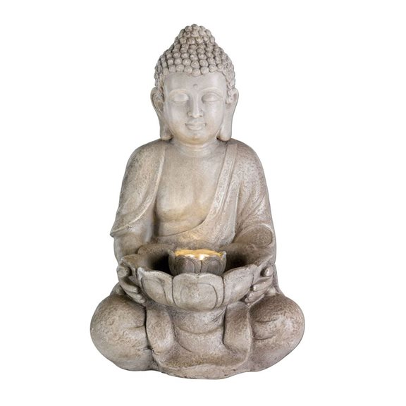LED Buddha Statue Oriental Outdoor Water Feature with LED Lights