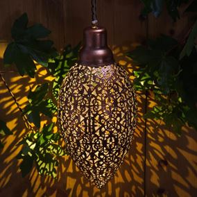 Modern Large Metallic Hanging Light Large