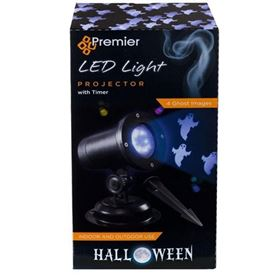 Indoor Outdoor Ghost Design LED Halloween Projector