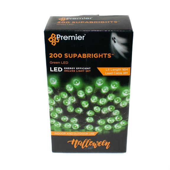 additional image for 200 Multi Action LED Supabrights Halloween Lights (Green)