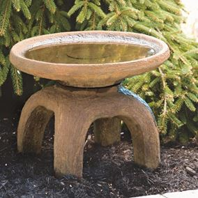 Oriental Cast Stone Bird Bath
