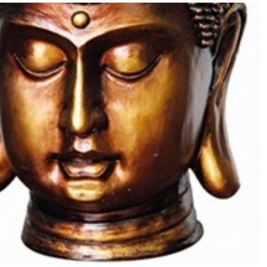 additional image for Bronze Buddha Head Water Feature with LED Light