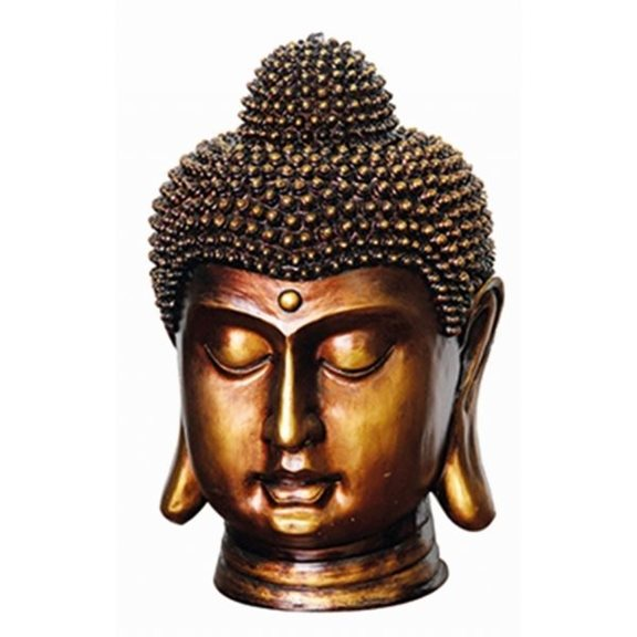 Bronze Buddha Head Water Feature with LED Light