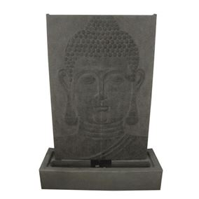 Large Grey Buddha Wall Water Feature with LED Lights