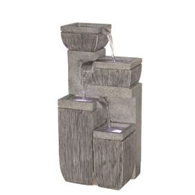 4 Bowl Textured Granite Water Feature (Solar Powered)