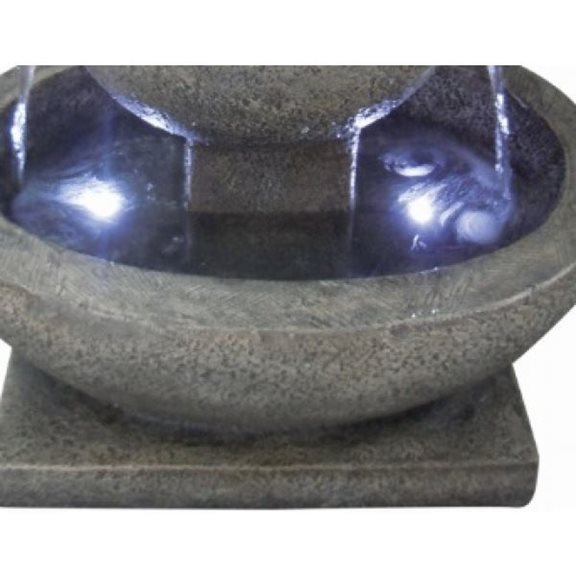 additional image for 3 Granite Bowl Water Feature with LED Lights