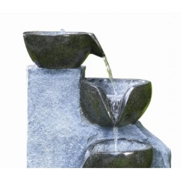 additional image for 4 Bowl Granite Garden Water Feature with LED Lights