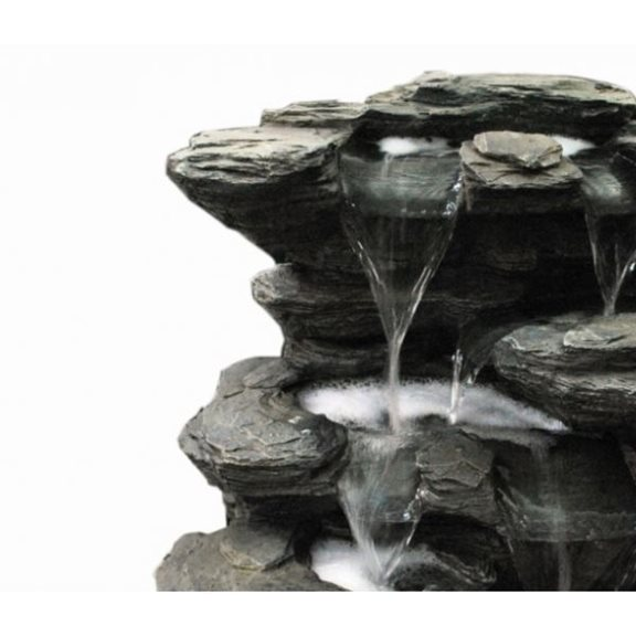 additional image for Slate Multi Fall Water Feature with LED Lights