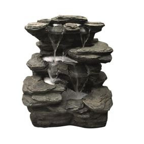 Flowing Springs Slate Falls Water Feature with LED Lights