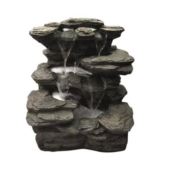 Slate Multi Fall Water Feature with LED Lights