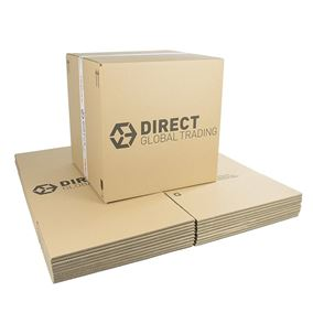 10 Strong Large Cardboard Boxes Ideal for Storage and House Moving Double Walled 44cm x 44cm x 44cm