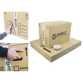 20 Large Strong Cardboard Boxes Ideal for Storage and House Moving Double Walled 47cm x 32cm x 26cm