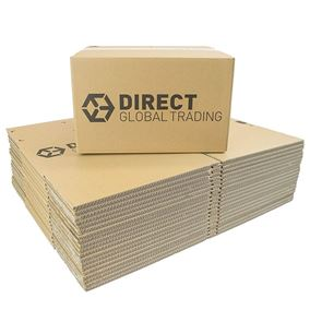 20 Strong Cardboard Boxes Ideal for Storage and House Moving Double Walled 34cm x 31cm x 20cm