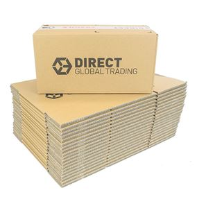 20 Small Strong Cardboard Boxes Ideal for Storage and House Moving Double Walled 34.5cm x 18cm x 15.5cm
