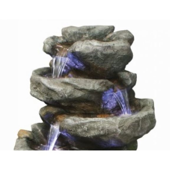 additional image for 6 Fall Rock Water Feature with LED Lights