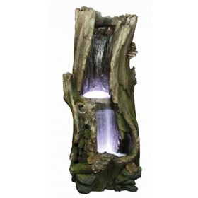 Large 2 Fall Tree Trunk Water Feature with LED Lights