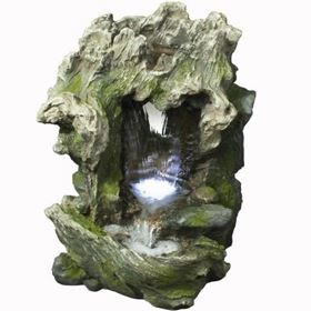 2 Fall Rock Formation Water Feature with LED Lights