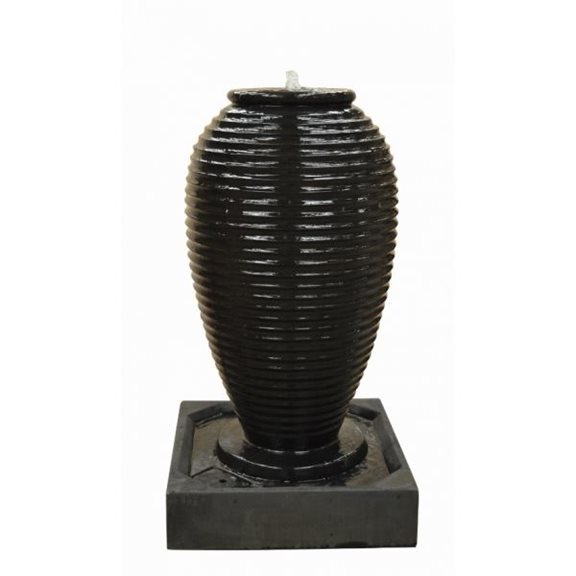 Ribbed Jar Glass Reinforced Concrete Fountain Water Feature