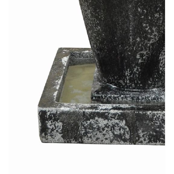 additional image for Carolina Large Jar Glass Reinforced Concrete Fountain Water Feature