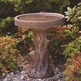 Tree Stump Bird Bath