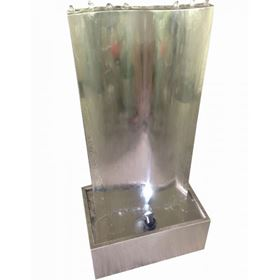 New Delhi Stainless Steel Water Feature with LED Lights
