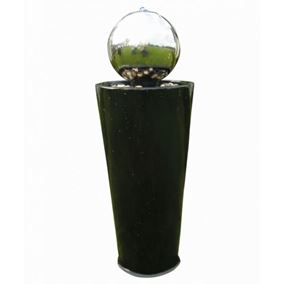 Boracay Stainless Steel & Pedestal Water Feature with LED Lights