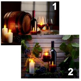 Wine Scene LED Lit Wall Canvas