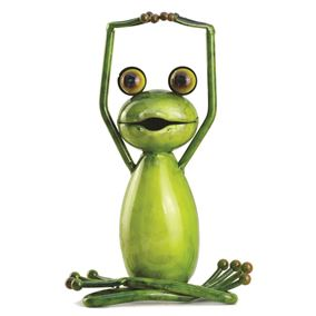 The Lotus Stretch Yoga Frog Garden Ornament