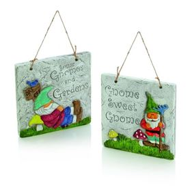 Gnome Garden Stone Hanger (Twin Pack)