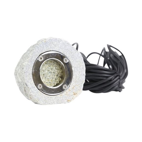 36 Bulb White LED Granite Submersible Rock Pond Light