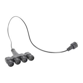 4 Way Splitter Lead with 2 Pin Connectors Ideal for Water Features