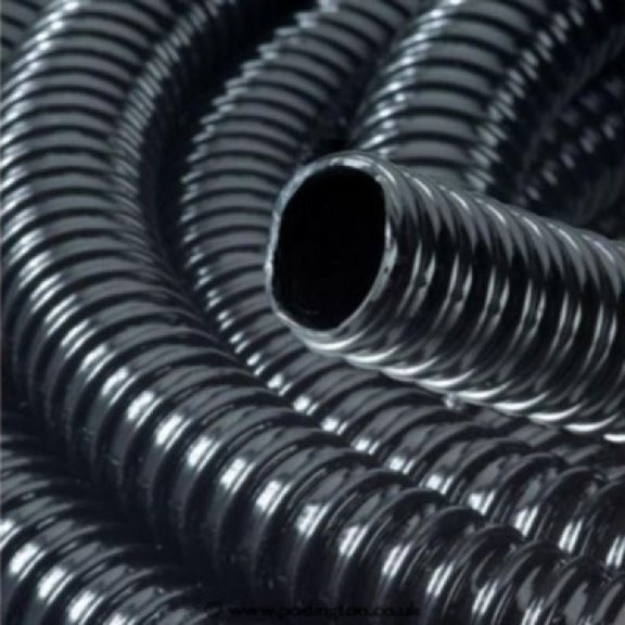 30 Metre Roll 3/4 Inch/19mm Ribbed Black Water Feature Hose