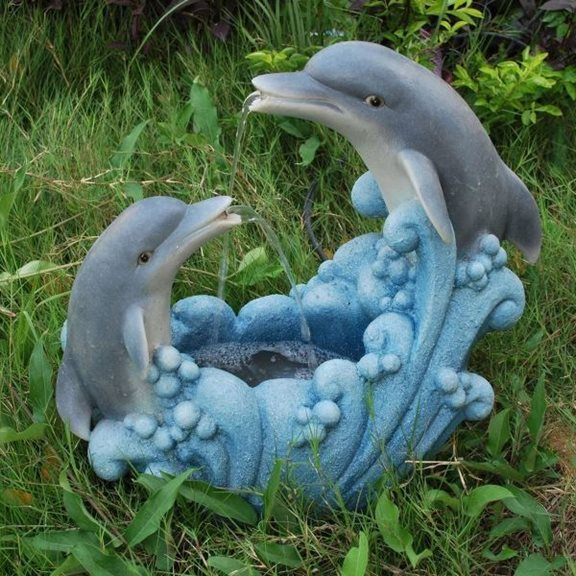 Medium Twin Dolphin Water Feature