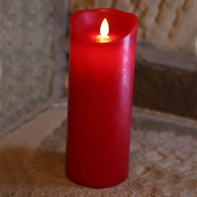LED Dancing Flicker Flame Red Candle Light (Large)