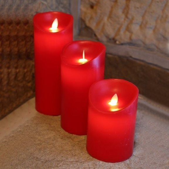 additional image for LED Dancing Flicker Flame Red Candle Halloween Decoration (Medium)