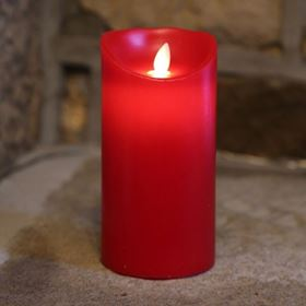 LED Dancing Flicker Flame Red Candle Halloween Decoration (Medium)