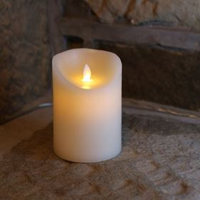 Dancing Flicker Flame Cream Candle Light (Small)