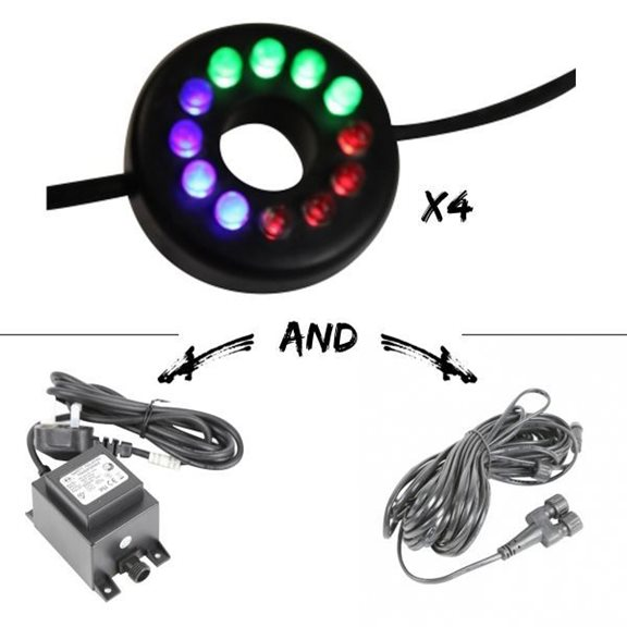 Set of 4 12 LED Extendable Colour Changing Cluster Light