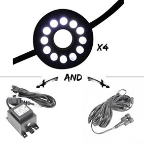 Set of 4 12 LED Extendable White Cluster Light