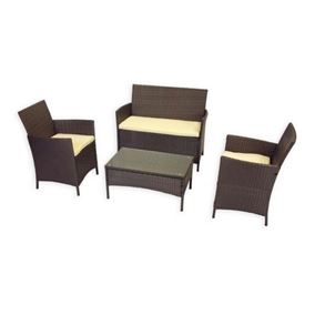 Newbury 4 Piece Coffee Set with Beige Cushions