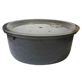 112cm Round Water Feature Pebble Pool and Heavy Duty Lid