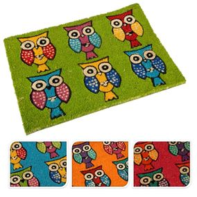 Colourful Owls Garden Doormat (40cm x 60cm)