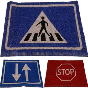 Road Signs Garden Doormat (40cm x 60cm)