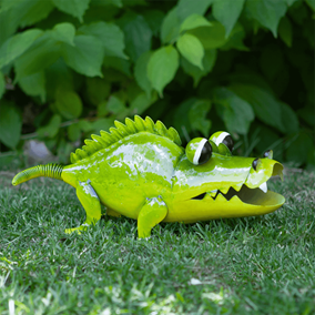 Bug Eyes Ali-Gator Metal Garden Ornament