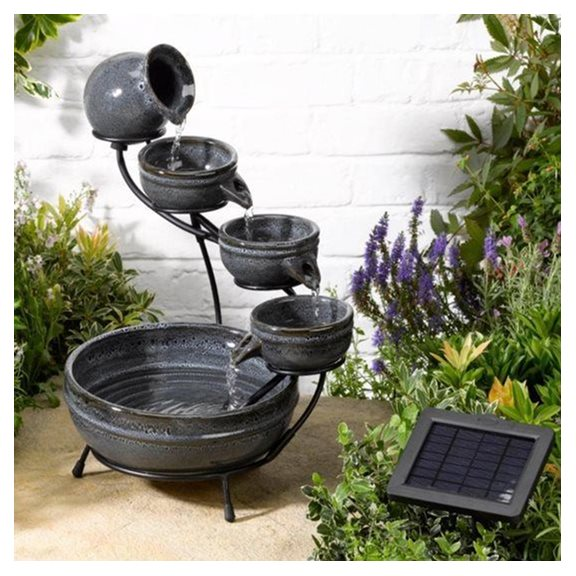 additional image for Aphrodite Ceramic Solar Cascade Water Feature