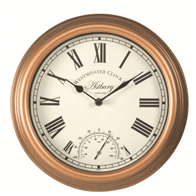 Astbury Outdoor Garden Clock with Thermometer
