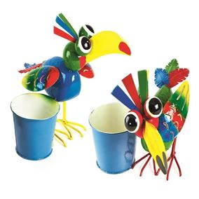 Colourful Tropical Bird Plant Holder