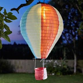 Solar Powered Hanging Hot Air Balloon